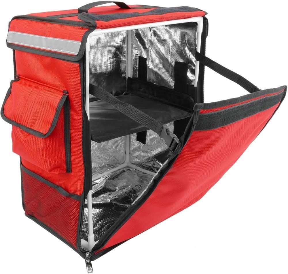 CityBAG - Mochila isotérmica para Entrega de Pedidos de Comida en Moto y Bicicleta roja 35 x 25 x 49 cm.