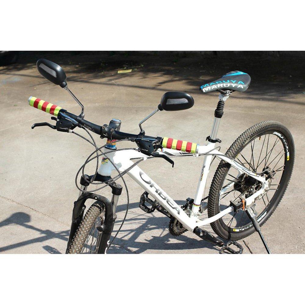 kimo 2 Pcs 360° Rotate Adjustable Universal Handlebar Rear View Mirror For Bike Bicycle Cycling Black by kimo (Image #9)