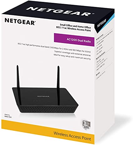 Netgear Wac104 Wlan Access Point Ac1200 Dual Band Computer Zubehör