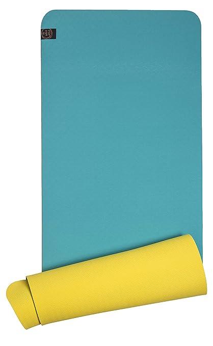 Esterilla Bicolor Yoga Eco TPE Antideslizante (Turquesa ...