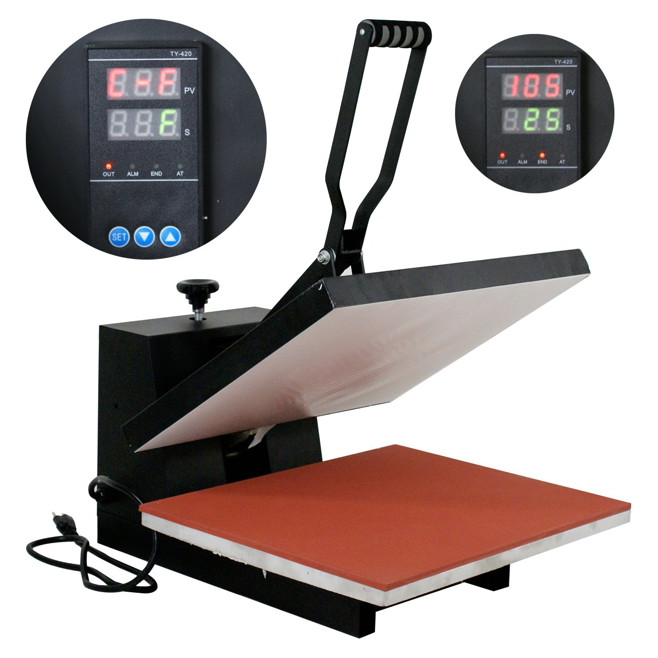 Super Deal 16'' x20'' Dual Digital Controller Clamshell Transfer Sublimation Heat Press Machine, Black ( 16'' x 20'') by SUPER DEAL