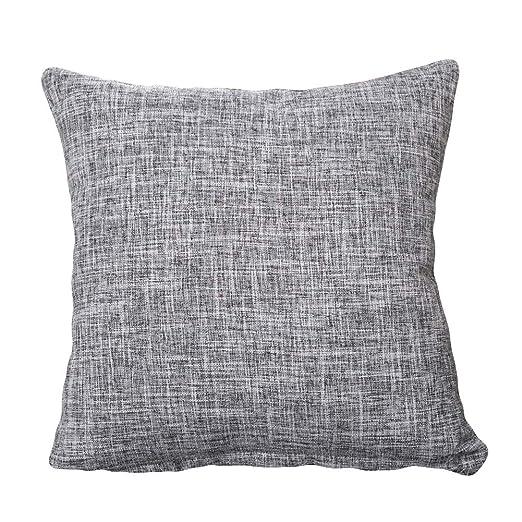 Suneast Funda de cojín de Lino y algodón, Color sólido ...