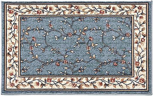 Alfombra de suelo americana en la puerta, alfombra de salón, dormitorio, mantas de noche, alfombra de ante de alta densidad, poliéster, azul, 50 * 160CM: Amazon.es: Hogar