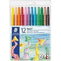 STAEDTLER 221 NWP12 Noris Club Wax Twister Plastic Wallet, 12 Colours