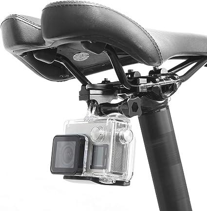 Bike Saddle Rail Seat Lock Mount Stabilizer For All Go Prol Series//Yi Black