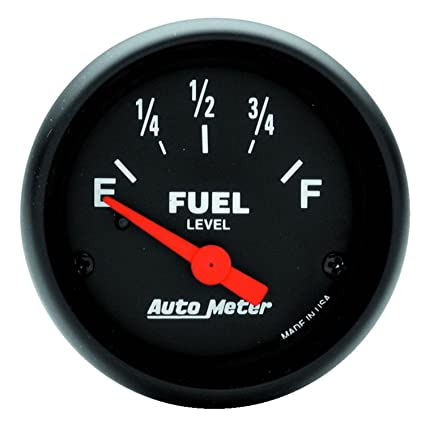 Amazon.com: Auto Meter 2643 Z-Series Electric Fuel Level Gauge ... on auto meter tach wiring, autogage tach wiring diagram, 1966 mustang wiring diagram,