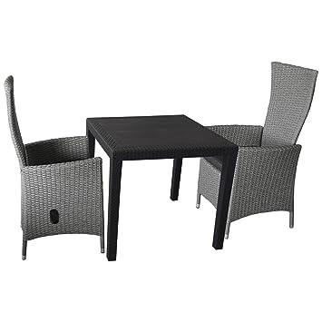 Mobiliario de jardín 3 piezas Balcón Muebles Bistro Set ...