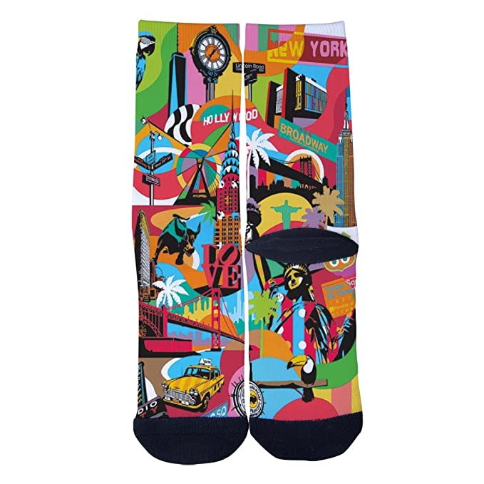 AprilShe Mens Womens Time So New York and Hollywood Socks Personal