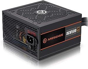 ARESGAME Power Supply 500W 80+ Bronze Certified PSU