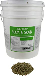 Certified Organic Dried Green Pea Sprouting Seed - 35 Lb - Handy Pantry Brand - Green Pea for Sprouts, Garden Planting, Cooking, Soup, Emergency Food Storage, Vegetable Gardening