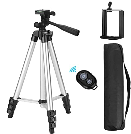 Eocean 50-inch Universal Tripod for Cellphone with Wireless Remote