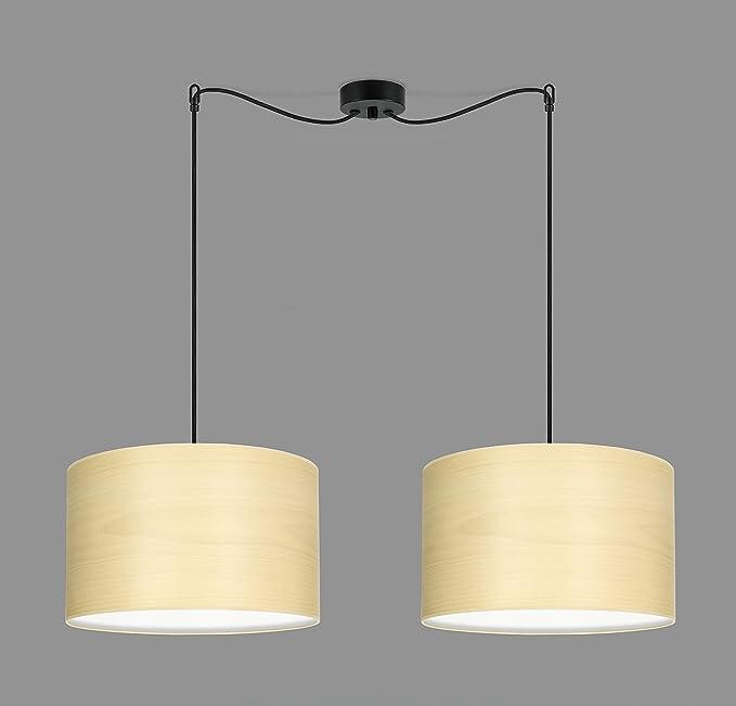 Con Pantallas De Tsuri Sotto 2 Luce Colgante Lámpara 2s Luces L hdrtCsQ