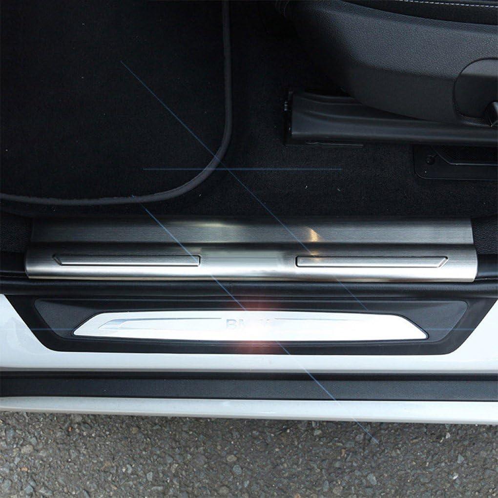 Gemmry 4pcs Battitacco in Acciaio Inox Inossidabile Esterno Soglia Porta Batticalcagno Anti-Graffio Protector Adesivo per Mazda Cx-30 Cx30 2019 2020