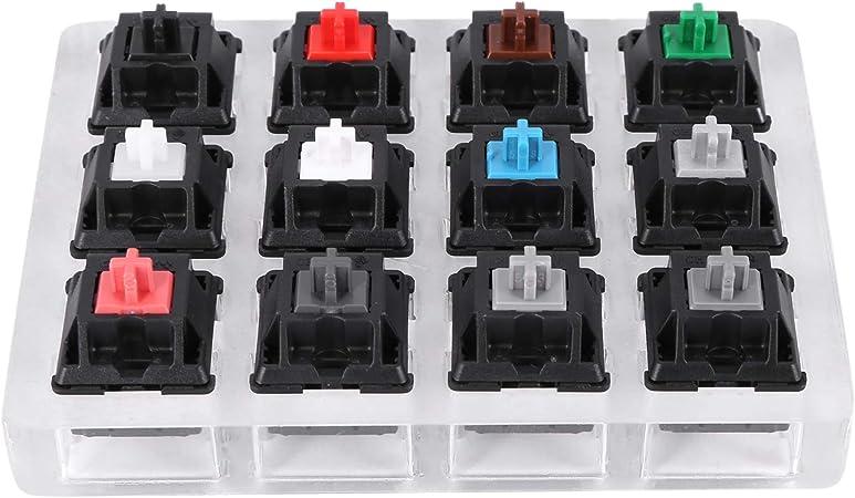 Rfvtgb Comprobador de teclado acrílico con 12 tapas de ...