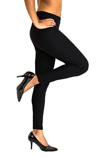 7edb9dcd9a02ce Women Plus Leggings Size 14-22 Black Tights Tall & Curvy Stretchy Pants:  Amazon.ca: Clothing & Accessories