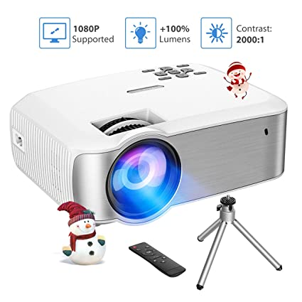 VicTsing Video Projector 1080P Supported with 3600 Lumens & ±45° Vertical  Keystone Correction