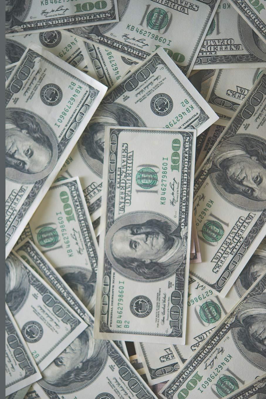 100 Dollar Bills Money Notebook: Graphing Grid Paper ...