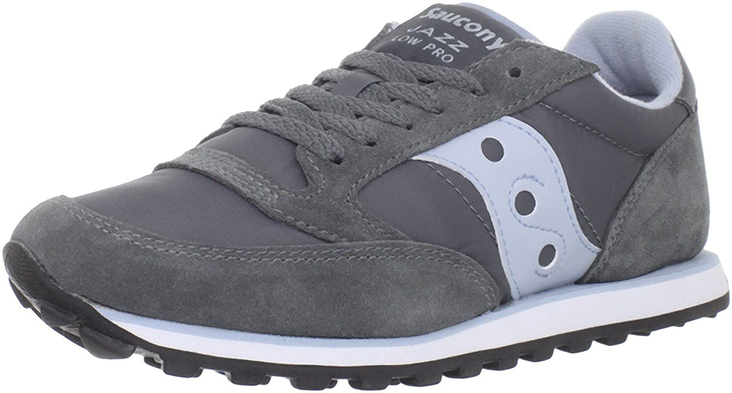 Saucony Originals Womens Jazz Low Pro Sneaker Grau/Blau 40.5 B(M) EU/7 B(M) UK