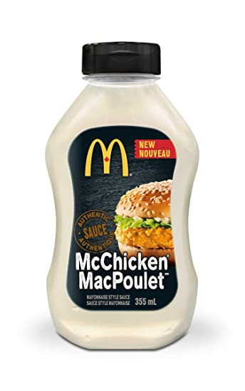 MCDONALDS McChicken Sauce, 1 Count, 355ml/12.00 Ounces {Imported from Canada}