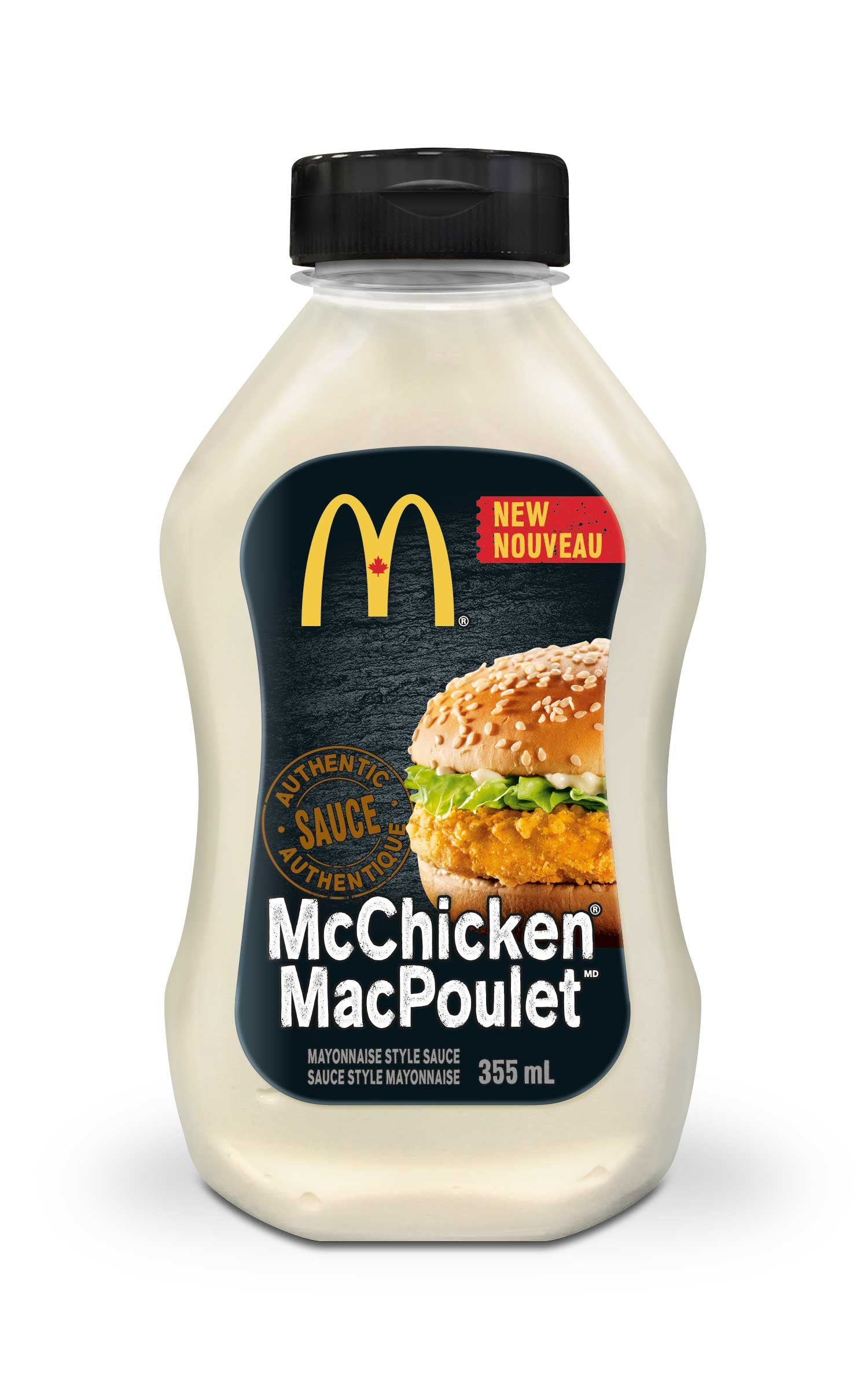 MCDONALD'S McChicken Sauce, 1 Count, 355ml/12.00 Ounces {Imported from Canada}