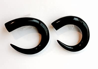 Amazoncom Water Buffalo Horn Talon Plug Earrings 00 Gauge 95mm