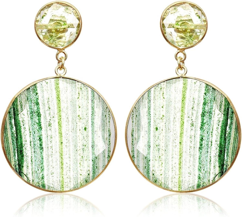 Córdoba Jewels | Pendientes en plata de Ley 925 y piedras semipreciosas. Diseño Belle Esmeralda