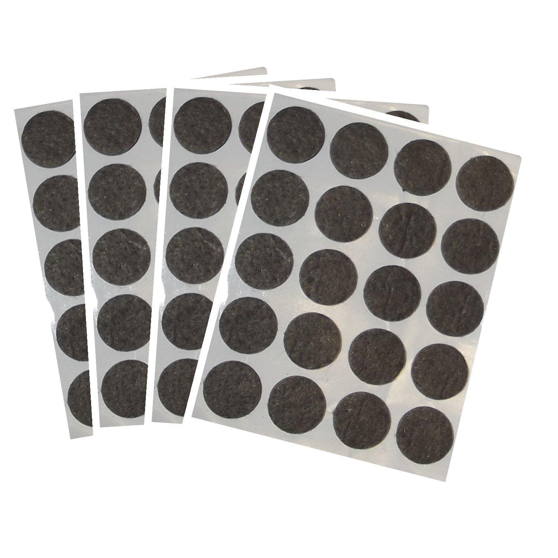 SECOTEC Filzgleiter selbstklebend rund weiß 17 mm Profi-Pack 100 Stück 105031836