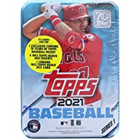 $23 » 2021 Topps Series 1 Baseball Tin: 75 Cards