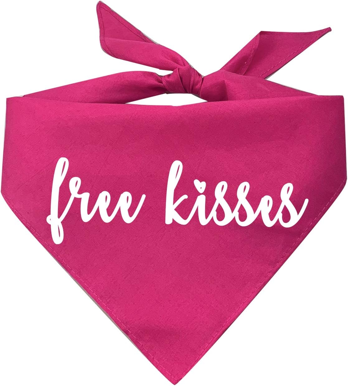 Free Kisses Dog Bandana Assorted Colors