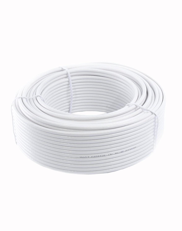 GadgetCenter YCAB03F - Cable coaxial de 30 metros, blanco: Amazon.es: Electrónica