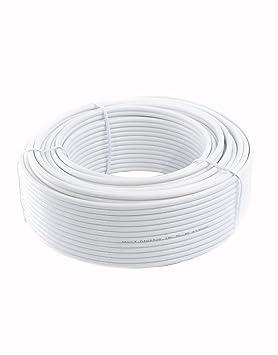 GadgetCenter YCAB03F - Cable coaxial de 30 metros, blanco