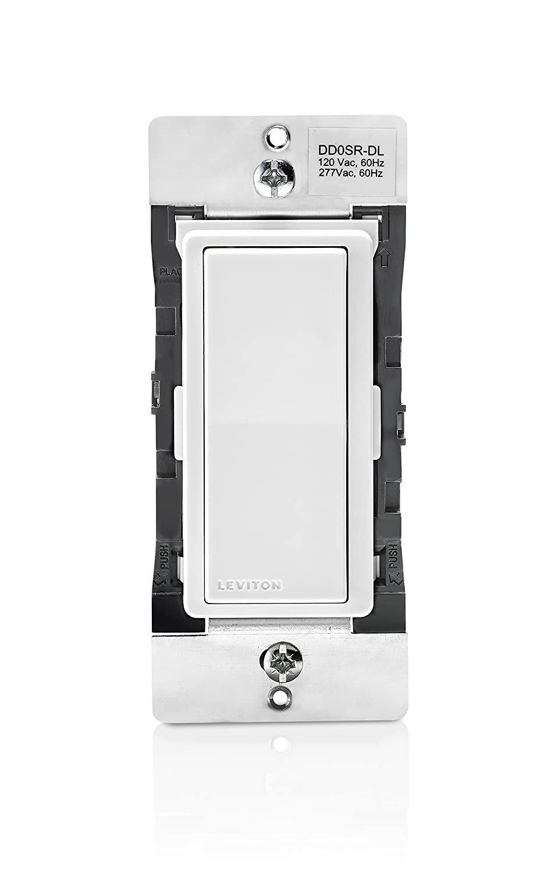 Leviton DD0SR-DLZ Dual Voltage 120/277VAC Decora Digital/Decora Smart Matching Switch Remote