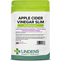 Lindens Apple Cider Vinegar Slim Capsules | 84 Pack | Contributes to Healthy Metabolism, Healthy Thyroid Function, Reduction of Tiredness & Fatigue