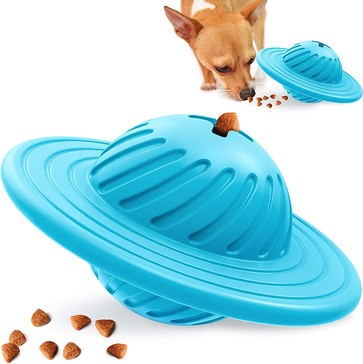 Wisedom Interactive Dog Toy IQ Treat Ball Food Dispensing Puzzle Toy for Medium Large Dogs Playing Chasing Chewing