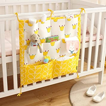 Baby Bed Crib Nursery Organizer Storage Bag Bumper Diaper Stacker Storage Bag