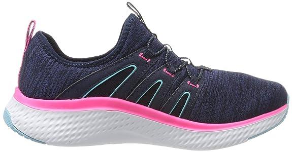 Skechers Damen Solar Fuse Sneaker, ((Black MeshWhite & Gum Trim BKW)
