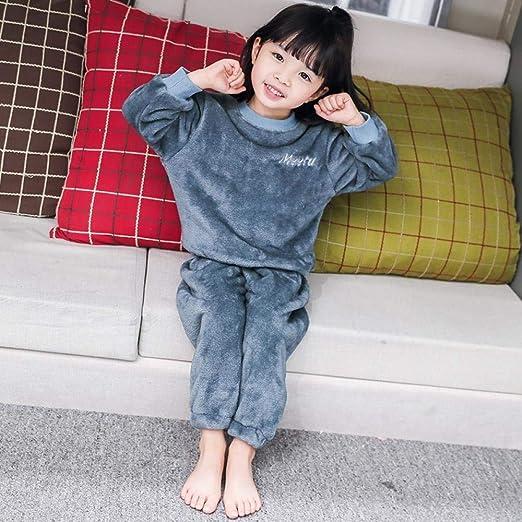 Bebé de 0-5 años Pijama Femenino Invierno Franela de Manga Larga ...