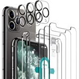 [6 Pack] LK 3 Pack Screen Protector for iPhone 11 Pro Max + 3 Pack Camera Lens Protector Anti-Scratch Easy-Installation Tool