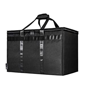 TRUE NORTH XL Commercial Insulated Food Delivery Bag - Uber Eats and DoorDash Bags for Hot and Cold Food, Insulated Grocery Tote, Insulated Delivery Bag, Delivery Bags for Hot Food, Food Warmer Bag