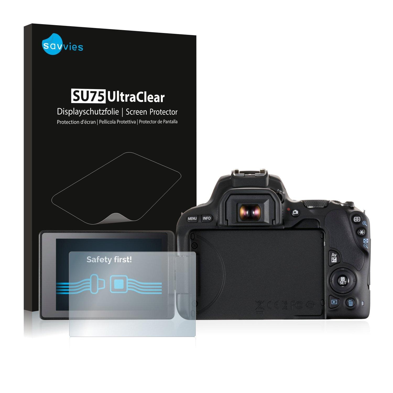 Savvies Protector de Pantalla para Canon EOS 200D Transparente 6 Unidades