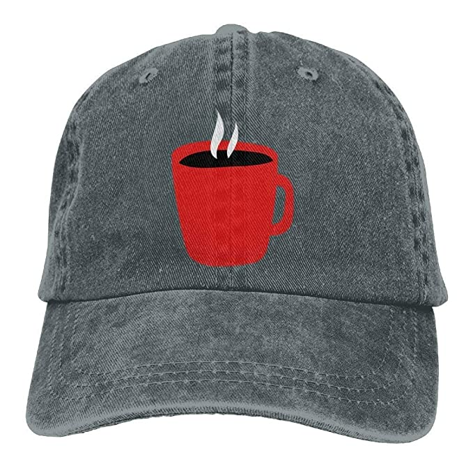 b3052b175df Hot Coffee Denim Hat Adjustable Women Cute Baseball Cap at Amazon ...