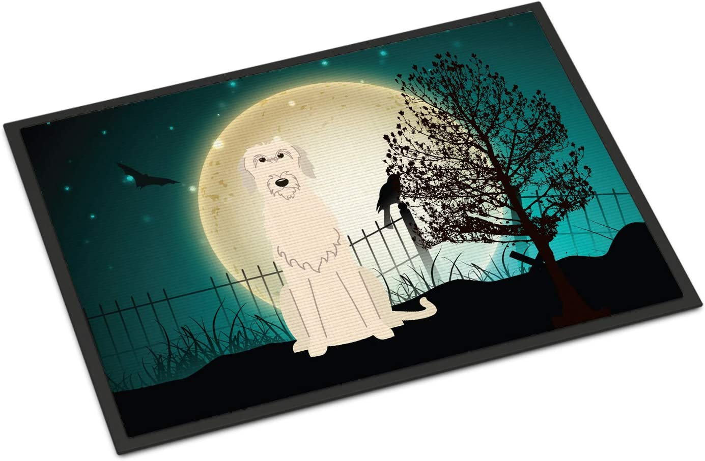 Caroline s Treasures BB2255JMAT Halloween Scary Irish Wolfhound Indoor or Outdoor Mat 24×36, 24H X 36W, Multicolor