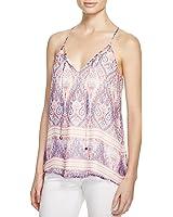 Ella Moss Women's Lorelei Silk Camisole Top in Pastel Pink Size Small