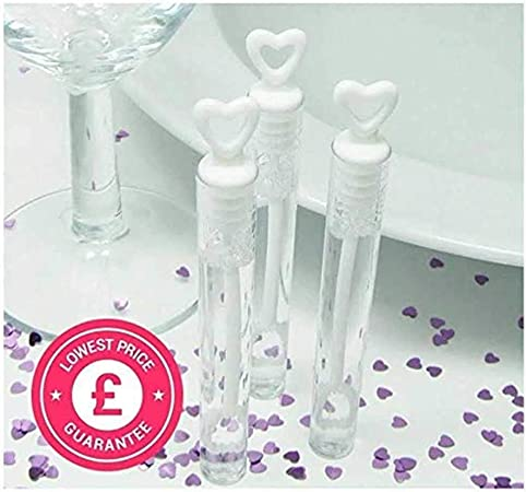 Pack of 12 Wedding Wand Tube Bubble Favours Table Decoration Party Accessories