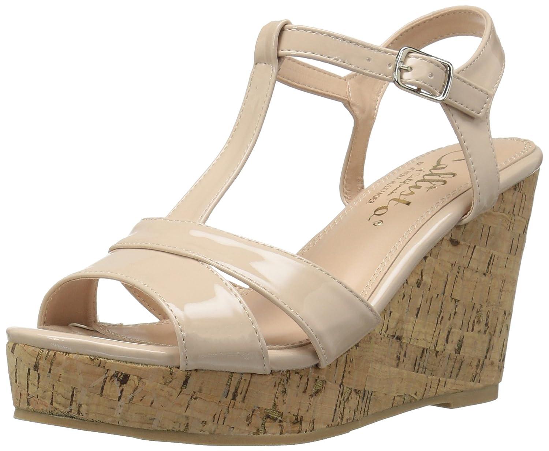Callisto Women's Teluride Wedge Sandal B06XT9QQLP 11 B(M) US|Nude Patent