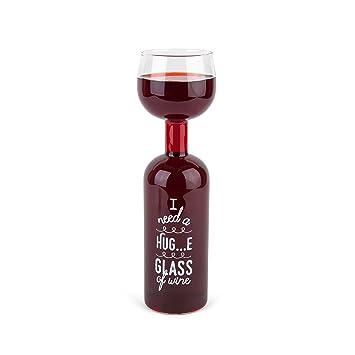 Bigmouth Inc Original para botella de vino de cristal HUG...E