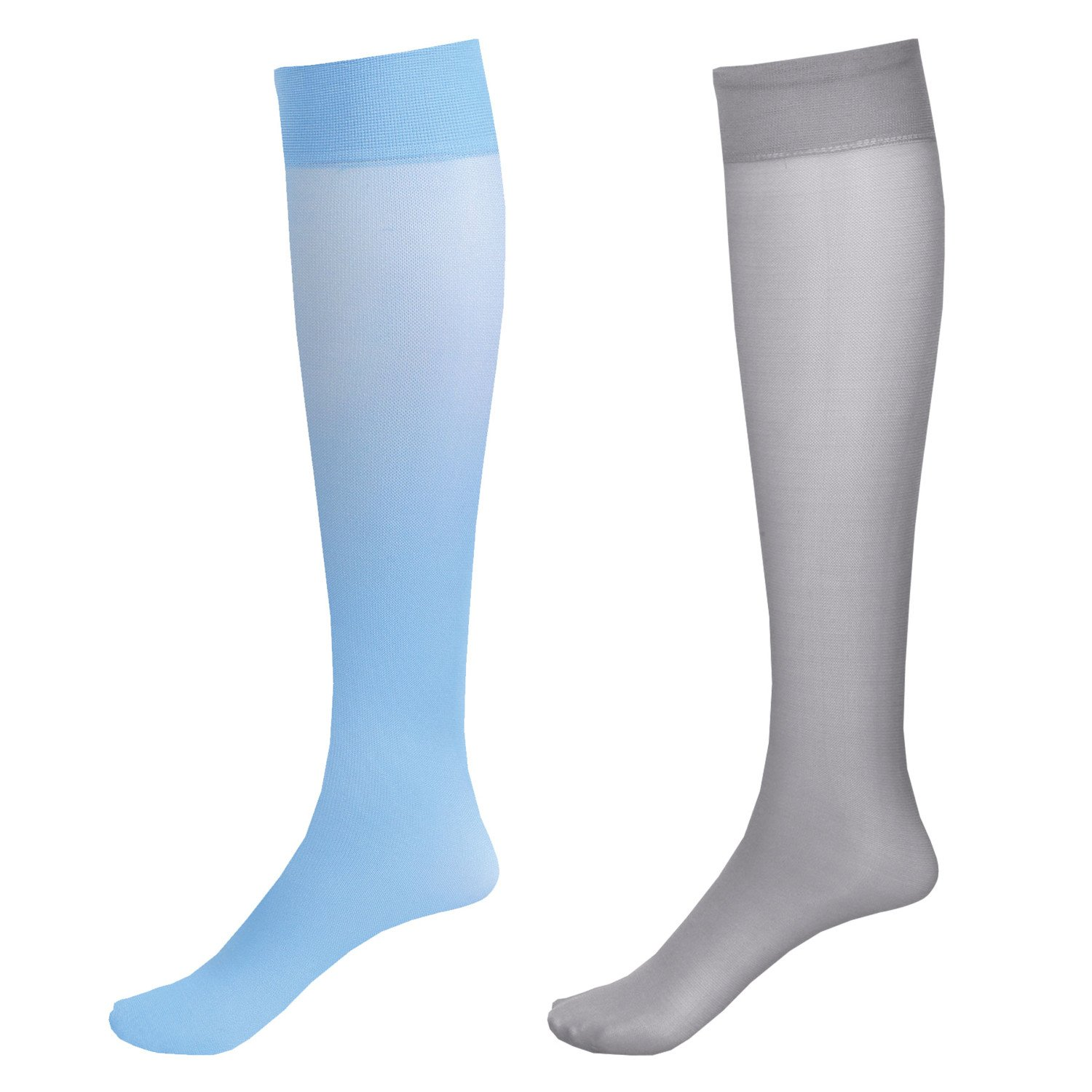 03262a77ff3 Amazon.com  Moderate Support 2 Pr Knee High Trouser Socks 15-20 mmHg  Compression - Pale Beige Black  Health   Personal Care