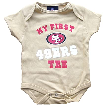 61a191cd San Francisco 49ers Gold Infant Onesie Size 3 - 6 Months Bodysuit Creeper -  My First tee