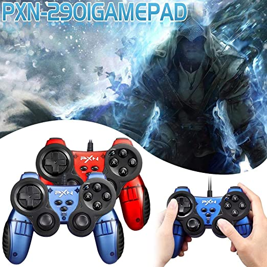 RORORO Gamepad Cableado, PXN-2901 Gamepad Controlador Cableado para PC Android TV Set-Top Box Smart TV XBOX360 Game PC Game: Amazon.es: Electrónica