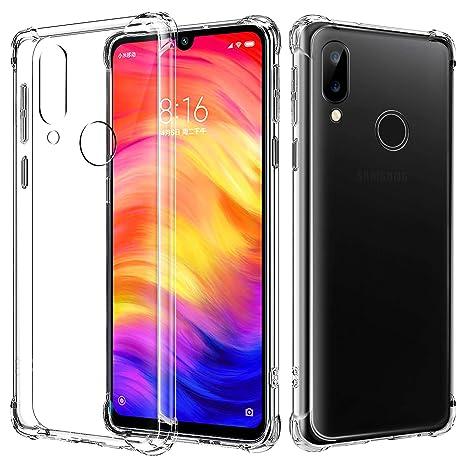 AIFIVE Funda Xiaomi Redmi Note 7, Carcasa Silicona Transparente Protector TPU, Anti-Choque, Ultra-Delgado para Xiaomi Redmi Note 7 (Transparente)